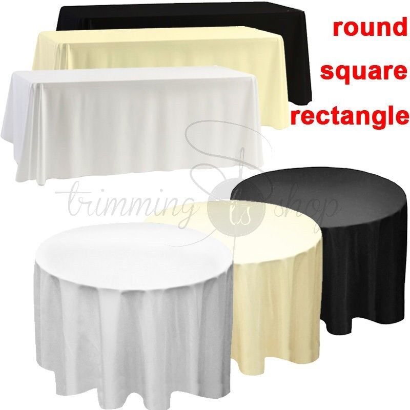 tablecloth table cover cloth polyester banquet wedding. Black Bedroom Furniture Sets. Home Design Ideas