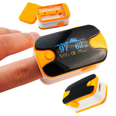 Us Seller Fingertip Pulse Oximeter Blood Oxygen Spo2 Heart Rate Monitor Yellow