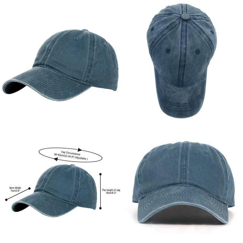 Glamorstar Classic Unisex Baseball Cap Adjustable Washed Dye