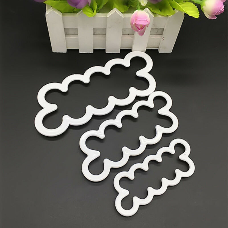 3PCS 3D Rose Flower Cutter Mold Fondant Cake Baking Maker Decorating Tools LF