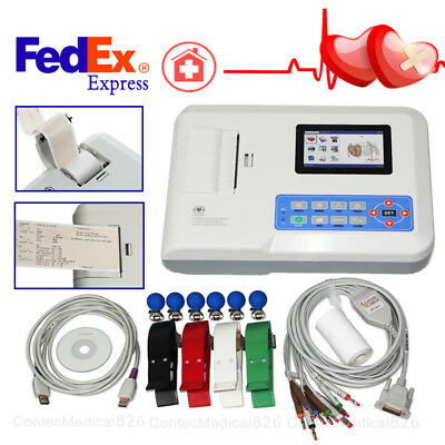 Digital 3 Channel Electrocardiograph Ecg Machine Ekg Monitor Software Us Seller