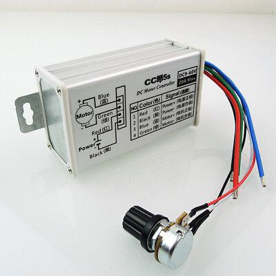 DC 9/12/24/48/60V 20A 400W PWM Controller Motor Speed Drehzahlregler Steuerung - Motor Speed Controller