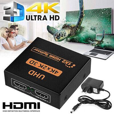 2 Port HDMI Splitter 1×2 Repeater Amplifier 3D 1080P Ultra HD 4K Hub 1 In 2 KW