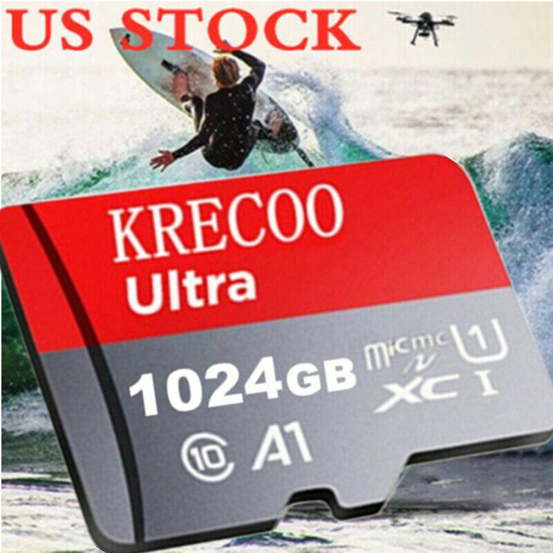 Memory SD Card 256GB 512GB 1TB TF Class10 U1 Smartphones Micro Card with Adapter