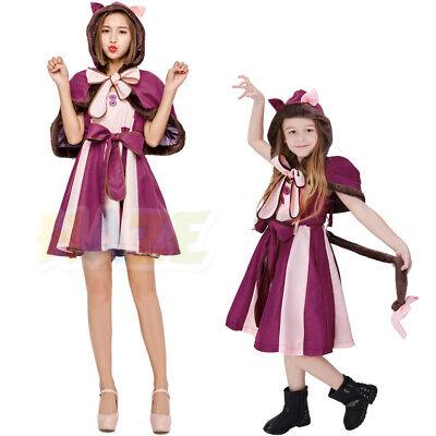 Alice im Wunderland Cheshire Cat Cosplay Kostüm Party Erwachsene Kinder