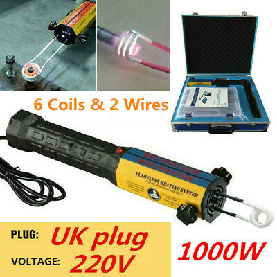 220V 1000W Mini Ductor Magnetic Induction Heater Kit Flameless Heat 8 Coils New