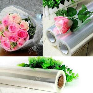 Plain Transparent Clear Cellophane Roll - Gift Wrap Florist Quality - 50cm Film