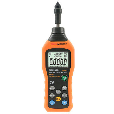 Peakmeter Pm6208a Digital Contact Tachometer Rpm Revolution Meter Peak-meter