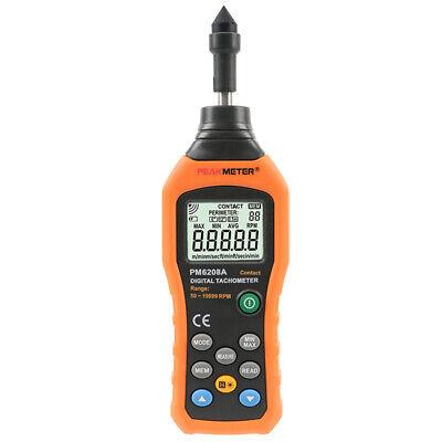 Peakmeter Pm6208a Digital Contact Tachometer Rpm Revolution Meter Peak-meter