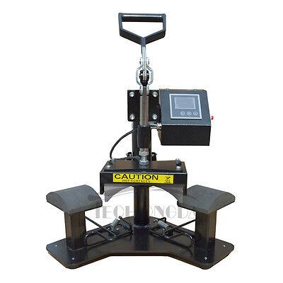 Techtongda 110v Hand Shake Two Stations Cap Heat Press Transfer Printing Machine