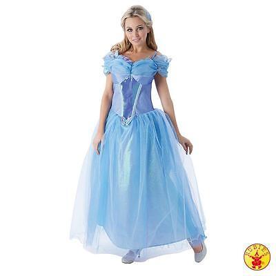 Damen Disney Prinzessin Kostüme (RUB 3810202 Disney Lizenz Damen Kostüm Cinderella Aschenputtel Prinzessin S M L)