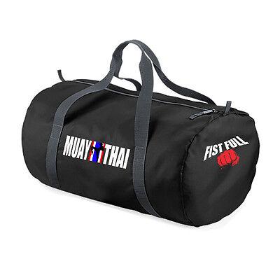 """FIST FULL® SPORTTASCHE """"MUAY THAI"""" schwarz Sport- / Trainings- Tasche Thaiboxen"""