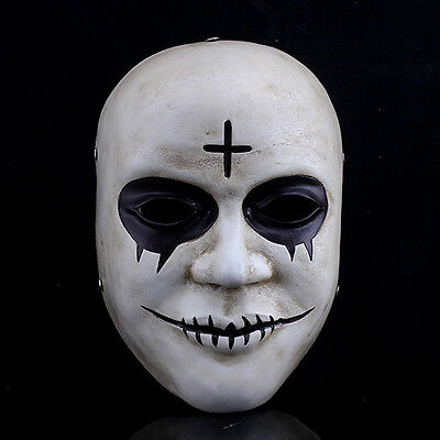 The Purge Anarchy 2 Style Halloween Mask Fancy Dress Horror Mask Cross - The Purge White Dress