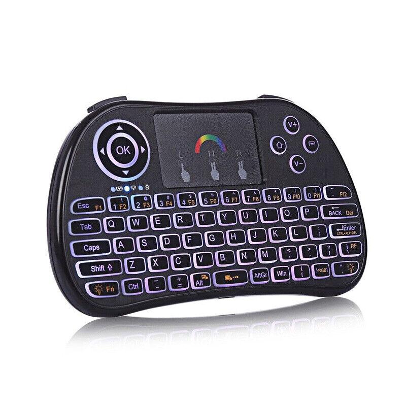 Wireless Touch Pad Keyboard USB 2.4G Multi Point w RGB Backlight Cordless Keypad