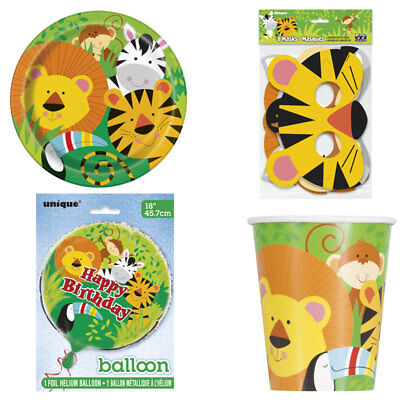 Jungle Themed Table Covers (Animal Jungle Zoo Party Theme Supplies Jungle Party cups plates Table cover)