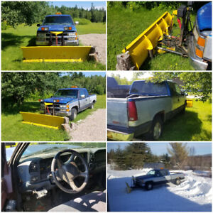 1998 CHEVY SILVERADO 4X4 V8 WITH 8 FOOT PLOW FOR SALE OR TRADE