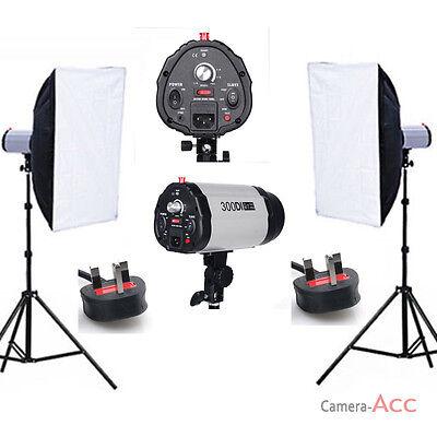 Studio Flash Lighting Kit Photo Strobe Light stand Softbox Portrait UK