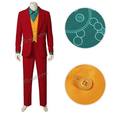 Joker Outfit (2019 Movie Batman Joker Cosplay Joaquin Phoenix Costume Adult Men Outfit)