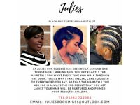 Black and European Hair dresser