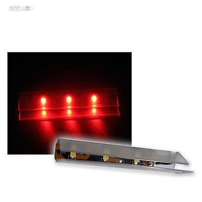6 Led Illuminazione del Bordo in vetro rosso paviento di luce SMD