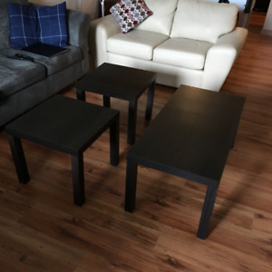 Coffe Table and 2 End Tables -$50