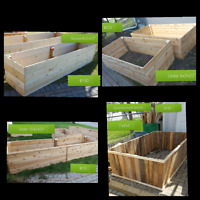 Raised garden bed planter box and more