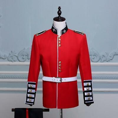 British Uniform Royal Guard Soldier Costume Mens Fancy Dress Outfit Grenadier sz (British Royal Guard Costume)