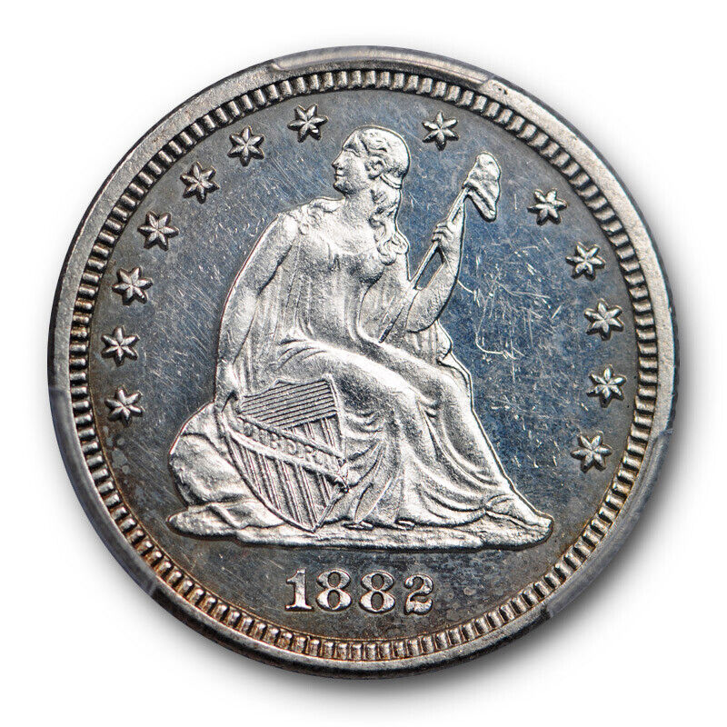 1882 25C Seated Liberty Quarter Proof PCGS PR 62 Low Mintage Looks Cameo ?