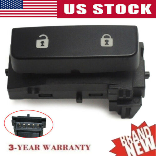 2007-2013 GMC Sierra Genuine GM LH Driver Power Door Lock Switch 15804093