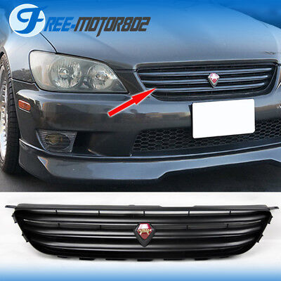 For 01-05 LEXUS IS300 GRILLE ALTEZZA VIP STYLE ABS BLACK GRILL WITH EMBLEM