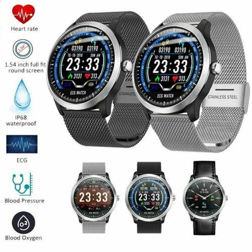 Men Bluetooth Smart Watch ECG Blood Pressure Health Monitor