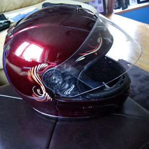 LONG WEEKEND SPECIAL! HJC XL helmet, painted and pinstriped