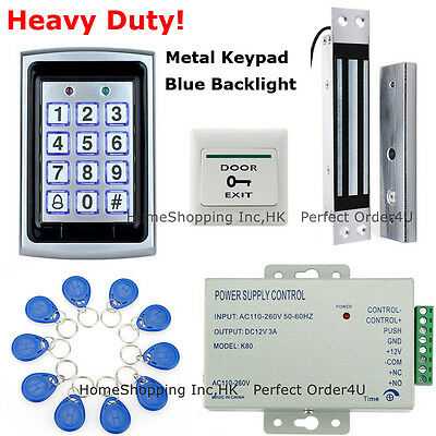 125KHz RFID Card + Password Access Control System+ Door Magnetic Lock +10 Cards