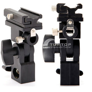 Flash Hot Shoe Umbrella Holder Swivel Light Stand Mount Bracket Type B UK STOCK