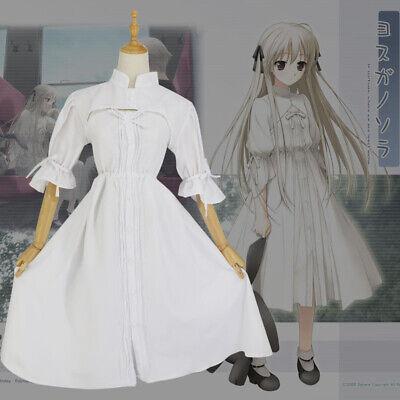 Yosuga No Sora Kasugano Cosplay Weiß Lolita In solitude Costum Kostüme Kleid