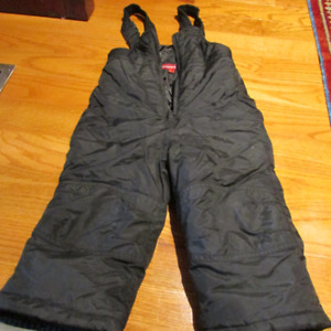 Size 2 Pull on Black snow pants for child