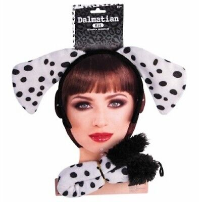 Dalmatian Dog Plush Tail and Ears Set Child Teen Adult - Dalmatian Ears And Tail