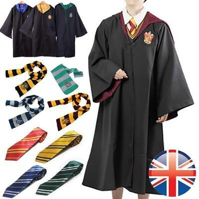 Harry Potter Robe+Schal+Krawatte Uniform Komplettkostüm Gryffindor Cosplay FL01 ()