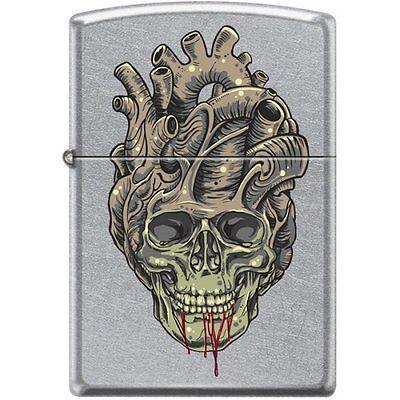 Zippo Lighter - Tattoo Skull Heart Street Chrome - 854043
