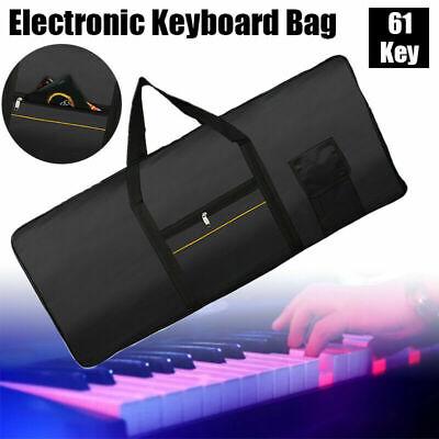 Portable Electronic 61 Key Keyboard Piano Case Gig Bag 420D
