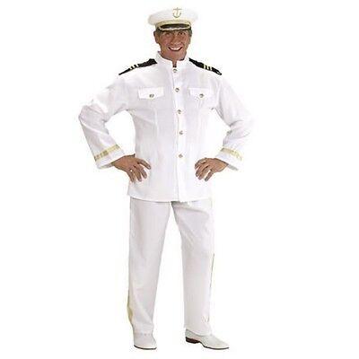 S44303 Offizier Kostüm KAPITÄN Uniform Kapitänskostüm Navy Gr L 52/54