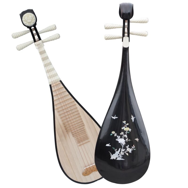 Luet Liuqin Chinese Soprano Pipa Lute Guitar Musical Instrument Qin STL#4102