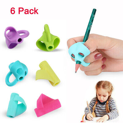 Writing Grip (6PCS Silicone Pencil Grips for Kids ,Pen Writing Aid Grip Posture Correction )