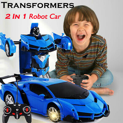 Robot Toys For Kids (Toys for Kids Transformer RC Robot Car Remote Control 2 IN 1 Boy Baby Xmas)