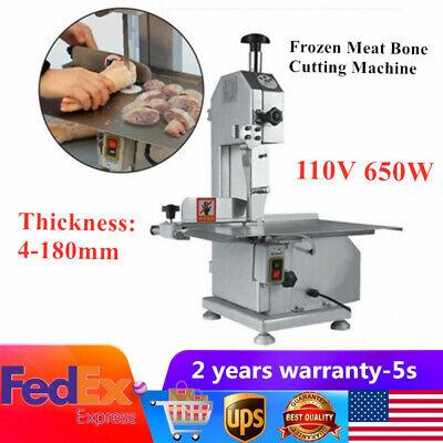 110v 650w Electric Bone Cutting Machinetable Saw Meat Band Saw Food Cutting