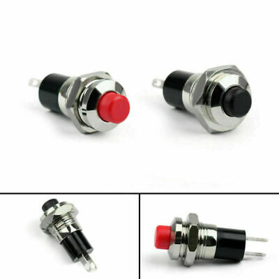 New Mini Push Button Spst Latching No Off-on Switch 10mm Rb For Carboat