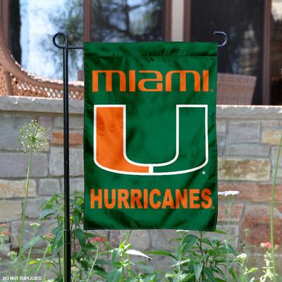 Miami Hurricanes Garden Flag Yard Banner