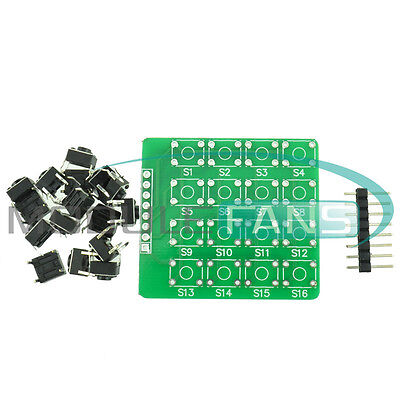 4x4 44 Matrix Keypad Keyboard Module 16 Botton Mcu For Arduino Diy Mf