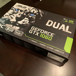 Asus GEForce GTX 1060  3GB dual like new in box