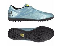 Mens ADIDAS Ice Blue Metallic Messi 15.4 Performance Astro Soccer Football Trainers Size 10 - FAB